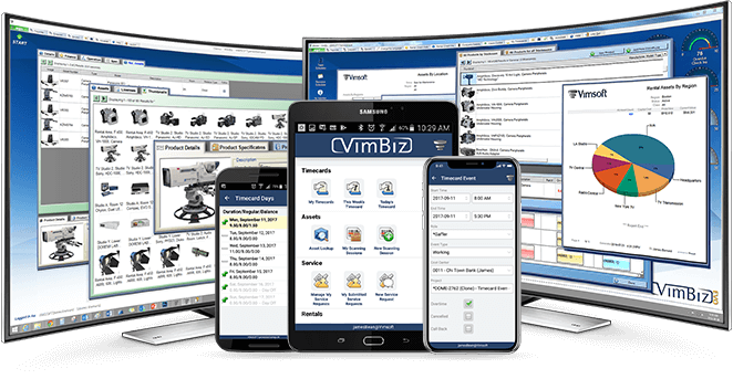 Images of vimbiz application and different platforms it runs on